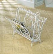 Zingz & Thingz 57071142 Cast Iron White Magazine Rack