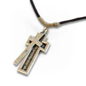 Oodles World 120552 Necklace His Armour-Cross