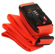 Safe Skies 79 TSA Luggage Strap - Neon Orange