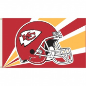 Annin Flagmakers 1367 Officially Licenced Kansas City Chiefs Flag-0.9m X 1.5m