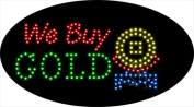 Sign Store L100-2018 We Buy Gold Animated LED Sign 27 x 38cm x 2.5cm .
