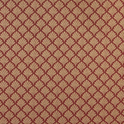 Designer Fabrics B661 140cm . Wide Red Fan Jacquard Woven Upholstery Fabric