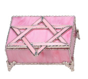 GiftMark JLY-25 Pink Glass Jewellery Box