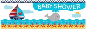 Creative Converting 297226 Ahoy Matey Baby Shower Giant Party Banner - Case of 6
