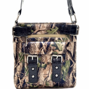 Ritz Enterprises MS100-BK Western Camouflage Crossbody Messenger Bag Purse - Black
