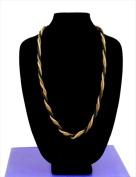 Best Desu 16995 Alley Style Designer Series 3 In 1 Handmade Metallic Braided Necklace