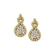 Fine Jewellery Vault UBNER40885Y14D April Birthstone Diamond . Earrings in 14K Yellow Gold 0.50 CT TDW