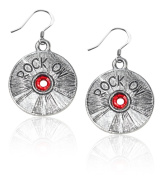 Whimsical Gifts 1218S-ER Rock On CD Charm Earrings in Silver