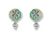 Zarah 21-01-Z1 Sand Dollar Silver Plate Earrings