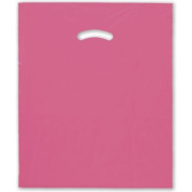Deluxe Small Business Sales 248-1518-22 38cm x 46cm . and 10cm . BG Die-Cut Handle Bags Pink