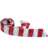 Matching Tie Guy 4611 X5 HT - 110cm . Child Matching Hair Tie - Red With Blue & White Stripes