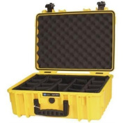 B & W North America 5000 - Y - RPD Yellow Outdoor Case with Padded Divider Insert 5000
