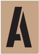 Hy-ko ST-4 10cm . Reusable Carded Number & amp; Letter Stencil - Pack of 6
