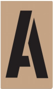 Hy-ko ST-5 13cm . Reusable Carded Number & amp; Letter Stencil - Pack of 6
