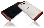 Matt White/Red Skin For HTC One M8 Wrap Cover Decal Protector NOT CASE