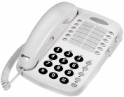 Geemarc CL1100 Desk top amplified telephone 12 Number Memory - White