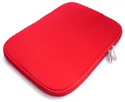 Emartbuy Red Water Resistant Neoprene Soft Zip Case/Cover suitable for most 33cm Inch - 36cm inch Notebooks / Laptops