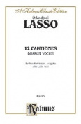 Alfred 00-K06263 Lasso 12 Canciones Duarum Voc V Book