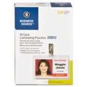 Business Source BSN20852 Laminating PouchesGovt Card5Mil2.240cm . x 10cm .100-BXCL