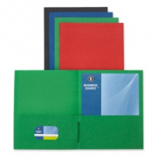 Business Source BSN78502 2-Pocket Folders- 125 Sh. Cap.- 28cm .x 8-.130cm .- Assorted