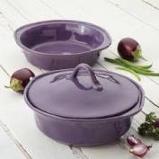 Rachael Ray 54019 3 Piece Round Casserole & Lid Set Lavender