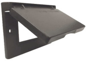 Hubbell Electrical 1C-GH-BR Horizontal Ground Fault Interrupter Single Gang Flip Cover Bronze
