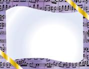 Music Certificate Border Computer Paper