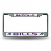 Rico Industries RIC-FCGL3501 Buffalo Bills NFL Bling Glitter Chrome Licence Plate Frame