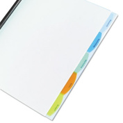 Wilson Jones. 55766 Polypropylene View-Tab Report Cover Binding Bar Letter Holds 40 Pages Clear