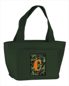 Carolines Treasures CJ1030-C-GN-8808 Monogram Letter C - Camo Green Zippered Insulated School Washable and . Lunch Bag Cooler
