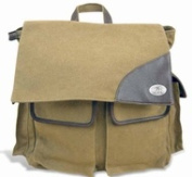 ZeppelinProducts UAL-BBX1-KHK Alabama Travel Bag Waxed Canvas 15 x 16 x 8