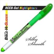 G T Luscombe 08114X Highlighter Accu Gel Bible Hi Glider Green
