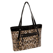 McKlein USA 11287 Parinda Fiona Quilted Carry All Tote Bag Leopard
