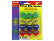 Fun shape pencil sharpeners - Pack of 24