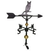 Montague Metal Products WV-323-SI 300 Series 80cm . Deluxe Swedish Iron Owl Weathervane