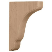 Ekena Millwork BKTW02X09X11PLRO 4.4cm . W x 22cm . D x 28cm . H Plymouth Wood Architectural Bracket Red Oak