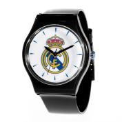 Real Madrid RM38-K Soccer Club Slimline Souvenir Watch Black