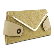 Mad Style 317844 Mad Style Owl Envelope Clutch Beige