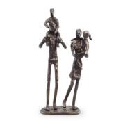 Danya B. ZD12060 Parents Carrying Children Bronze Sculpture