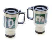 In the Sand Golf Mom And Dad Stainless Steal Travel Mugs