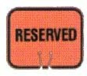 Olympia Sports SF082P Snap-On Cone Sign - RESERVED