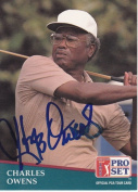 Charles Owens Autographed Pro Set Golf Trading Card