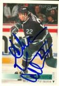 Autograph Warehouse 60150 Shaun Van Allen Autographed Hockey Card Anaheim Ducks 1995 Premier No .432