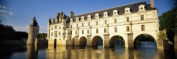 Panoramic Images PPI62103L Reflection of a castle in water Chateau De Chenonceaux Chenonceaux Loire Valley France Poster Print by Panoramic Images - 36 x 12