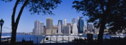 Panoramic Images PPI78718L Skyscrapers on the waterfront Manhattan New York City New York State USA Poster Print by Panoramic Images - 36 x 12