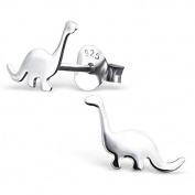 Sterling Silver Diplodocus Dinosaur Stud Earrings