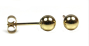 Ladies 4 mm Gold Ball Stud Earrings in 9ct Yellow Gold