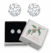 Sterling Silver Snowflake stud earrings - Size