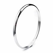"Scorpios Stainless Steel Domed Slip on Bangle Bracelet For Women Stackable 5mm Seamless 8"" Perimeter"