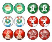 LilMents 6 Pairs Christmas Winter Festive Xmas Unisex Stainless Steel Stud Earrings Set
